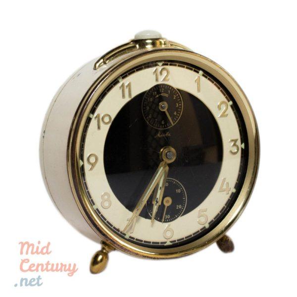 Lot of 4 vintage table clocks (Blessing, Mauthe, Prim & Ruhla)
