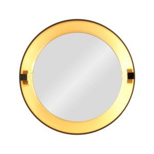 Allibert round wall mirror, France, 1970s