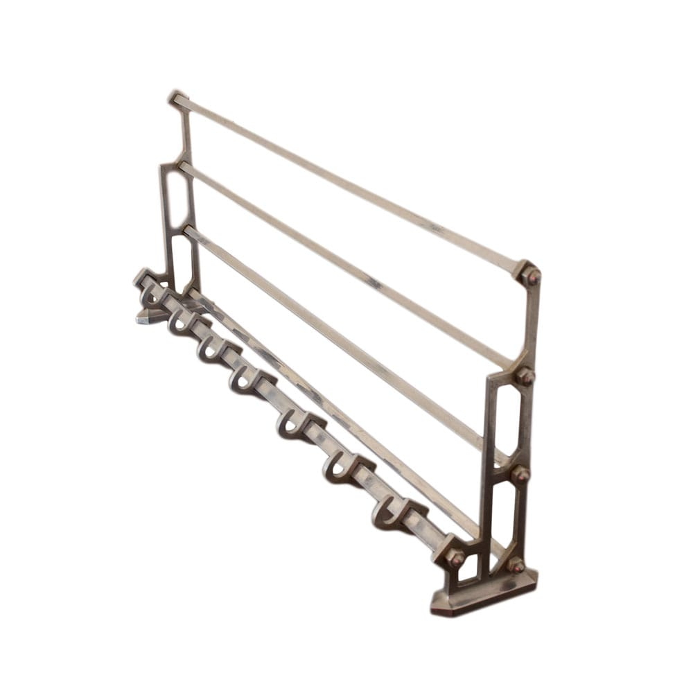 Wall coat rack made of metal