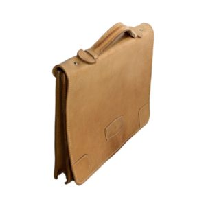 Brown leather laptop case
