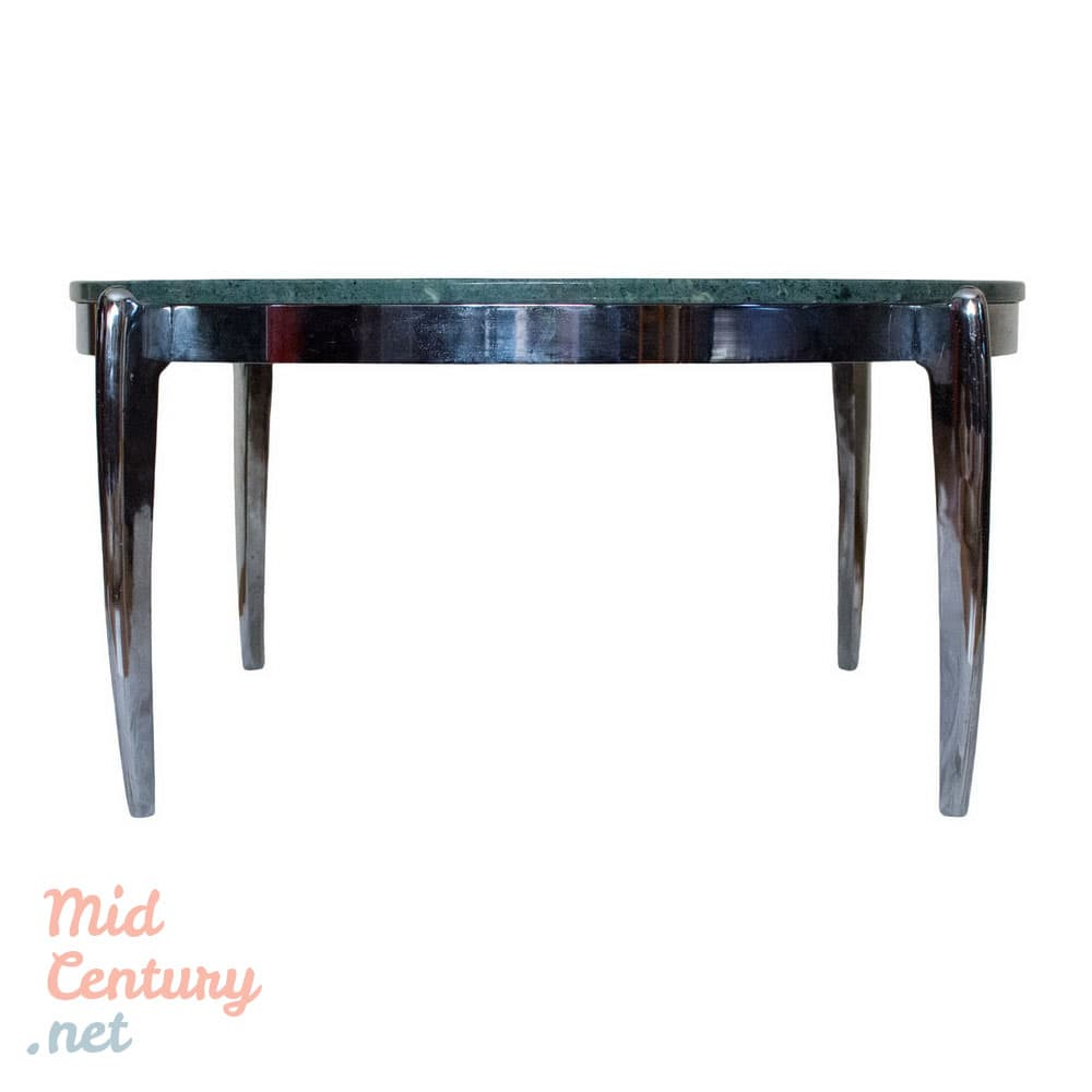 spectacular coffee table made of marble and stainless steel • mid