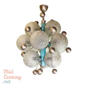 Spectacular Space Age / Atomic Age ceiling lamp with 12 lights