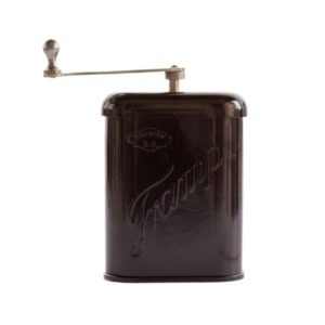 Travel coffee grinder made by Tramp, Czechoslovakia