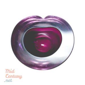 Small purple Murano bowl made in the 1970s