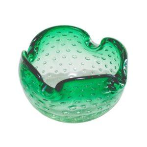 Controlled bubbles (bullicante) Murano ashtray