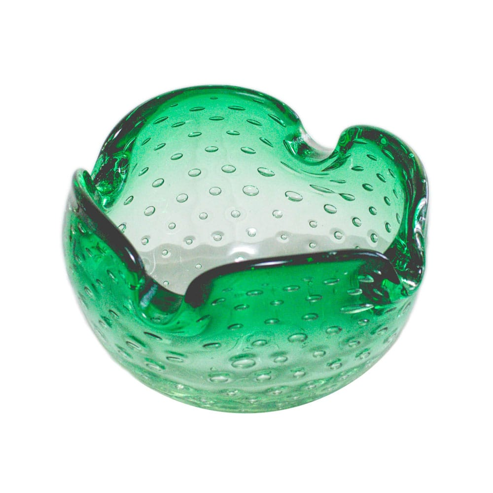 Controlled bubbles (bullicante) Murano ashtray