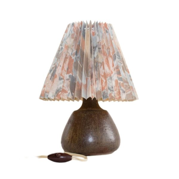 Elegant ceramic table lamp made by Soholm Stentoj