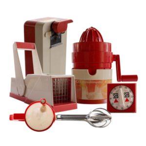 Set of 5 kitchen utensils and appliances