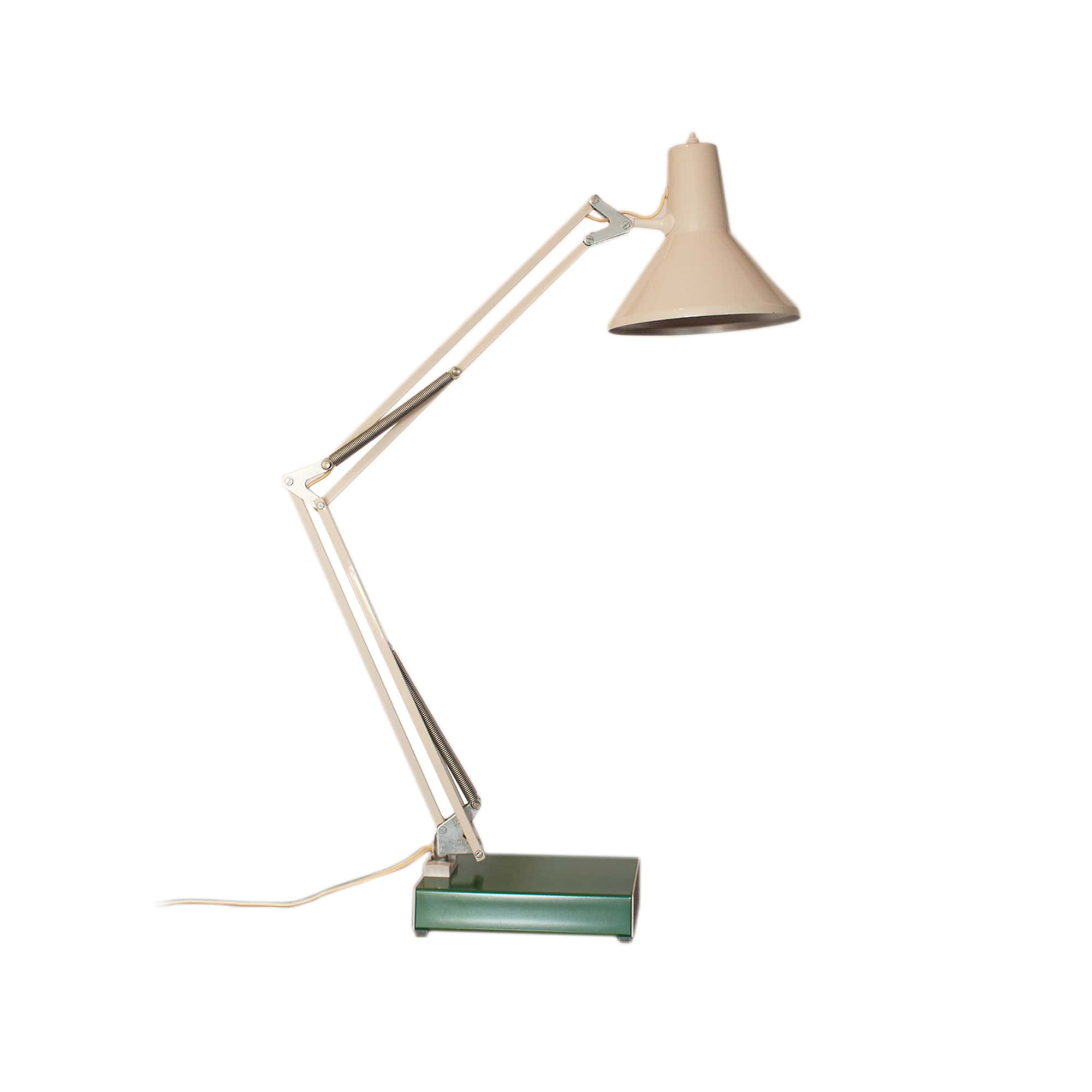 Vintage architect table lamp by HCF