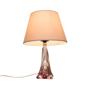 Beautiful Val St Lambert crystal lamp