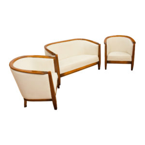 Elegant sofa Art Deco Living room set made in France in the 1970s