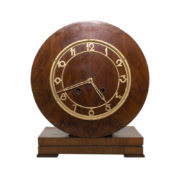 Beautiful Art Deco mantel clock in wood case