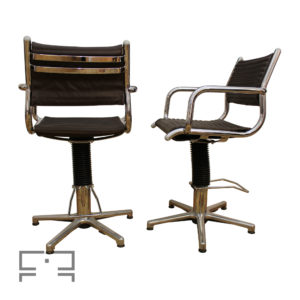 Two swivel (rotating) chairs made in Germany by Olymp, in the 1960s
