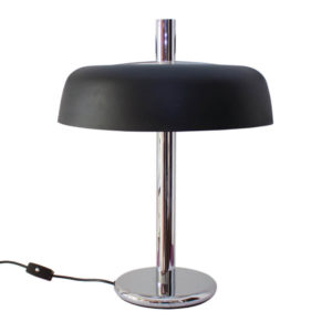 Mid-Century Black Mushroom Table Lamp by Egon Hillebrand for Hillebrand Lighting, 1960s