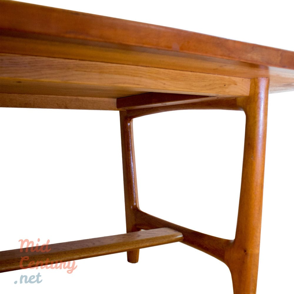 imposing coffee table made of teak mid century. Black Bedroom Furniture Sets. Home Design Ideas