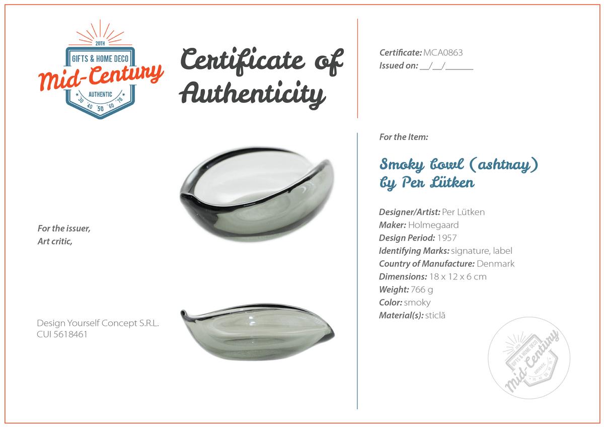 Certificates of Authenticity and Origin
