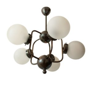 Beautiful Space Age / Atomic Age ceiling lamp with 5 lights