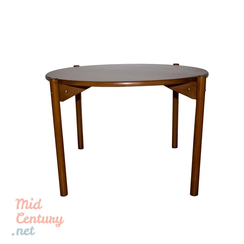 Round Coffee Table From The 1970s Mid Century