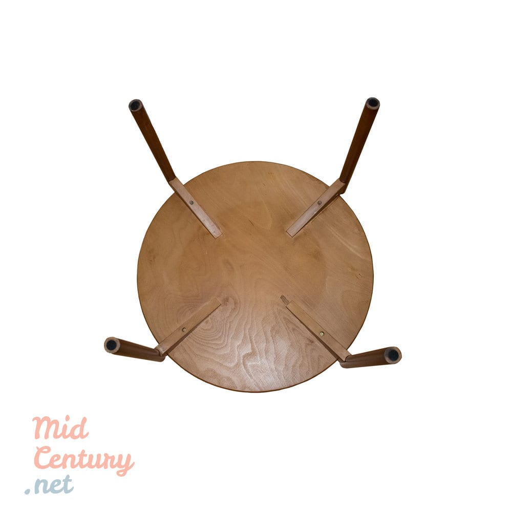 Round coffee table from the 1970s