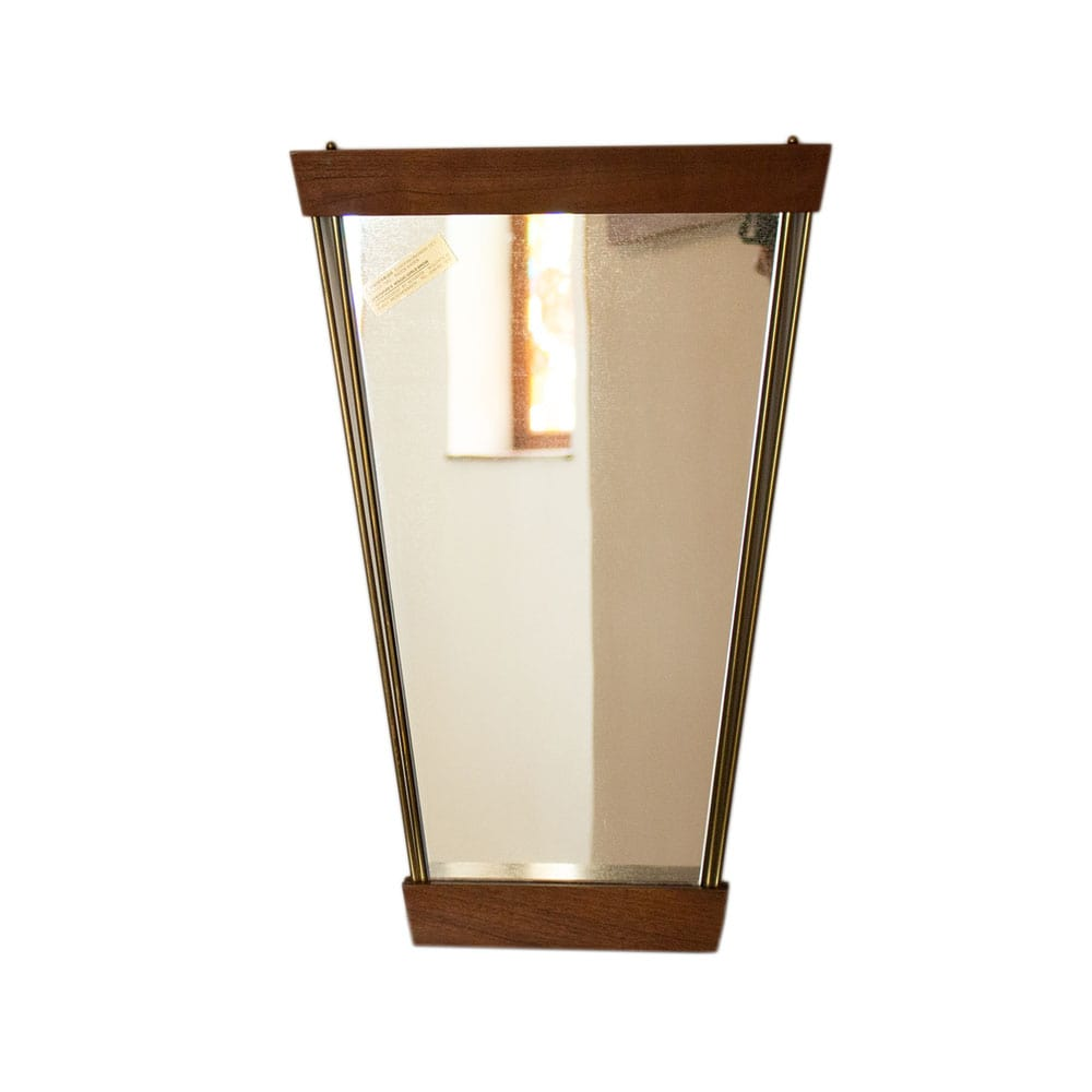 Trapezoidal wall mirror, Germany, 1980s