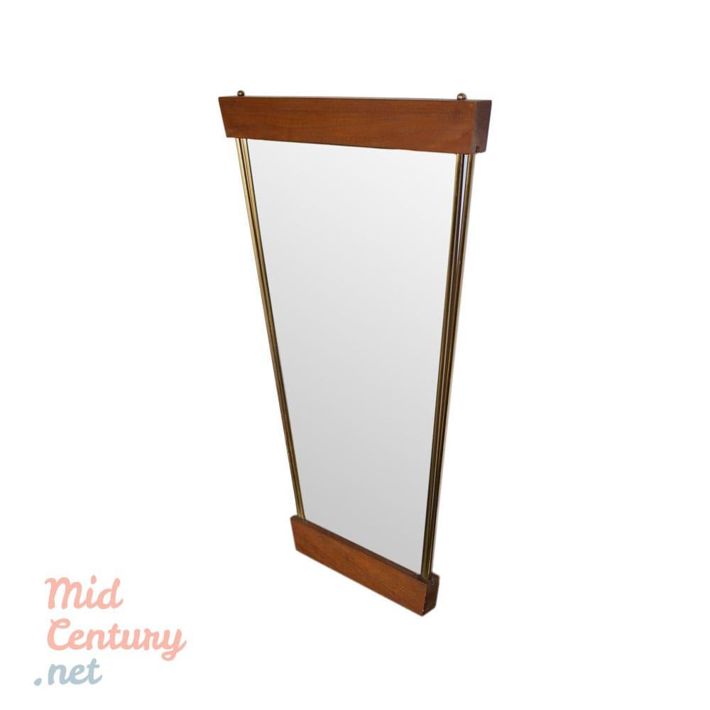Trapezoidal wall mirror, Germany, 1980s