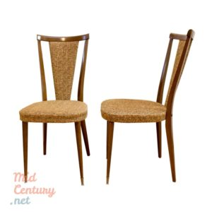 Pair of French walnut chairs