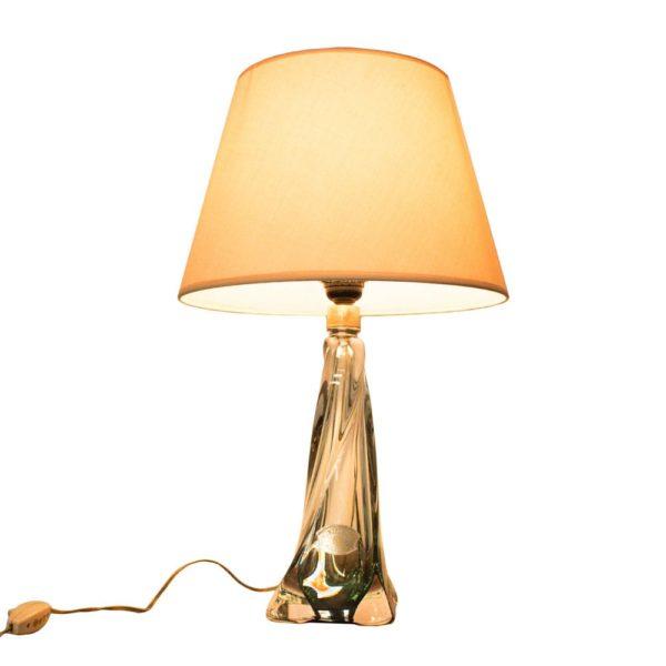 Spectacular Val St Lambert crystal lamp