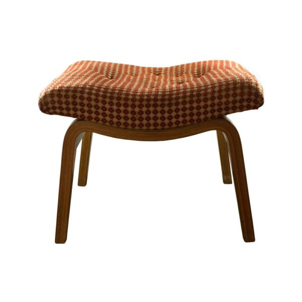 Laminated wood stool, Germany, 70s