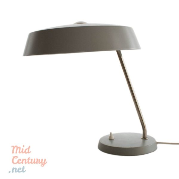 Gray desk lamp from the 1950s