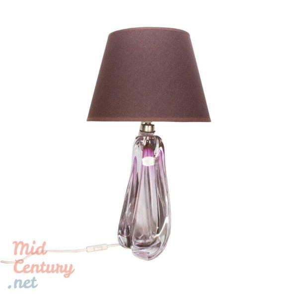 Beautiful Val St Lambert crystal lamp