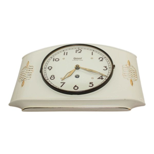 Garant porcelain wall clock made in Germany in the 1940s