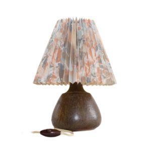 Elegant ceramic table lamp made by Soholm Stentoj