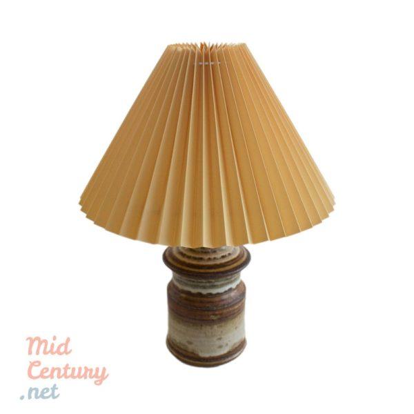 Very rare stoneware table lamp made by Josef Simon for Soholm Stentoj