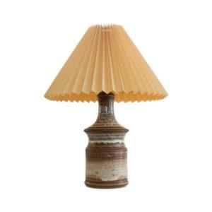 Very rare stoneware table lamp made by Joseph Simon for Soholm Stentoj