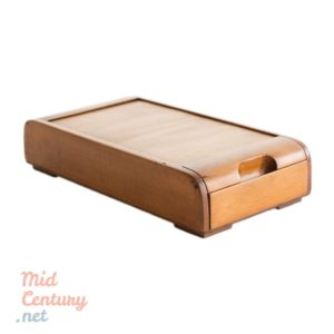 Wooden roll top jewelry box