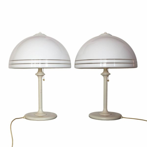 Spectacular pair of two bedside table lamps by Wessel-Herford