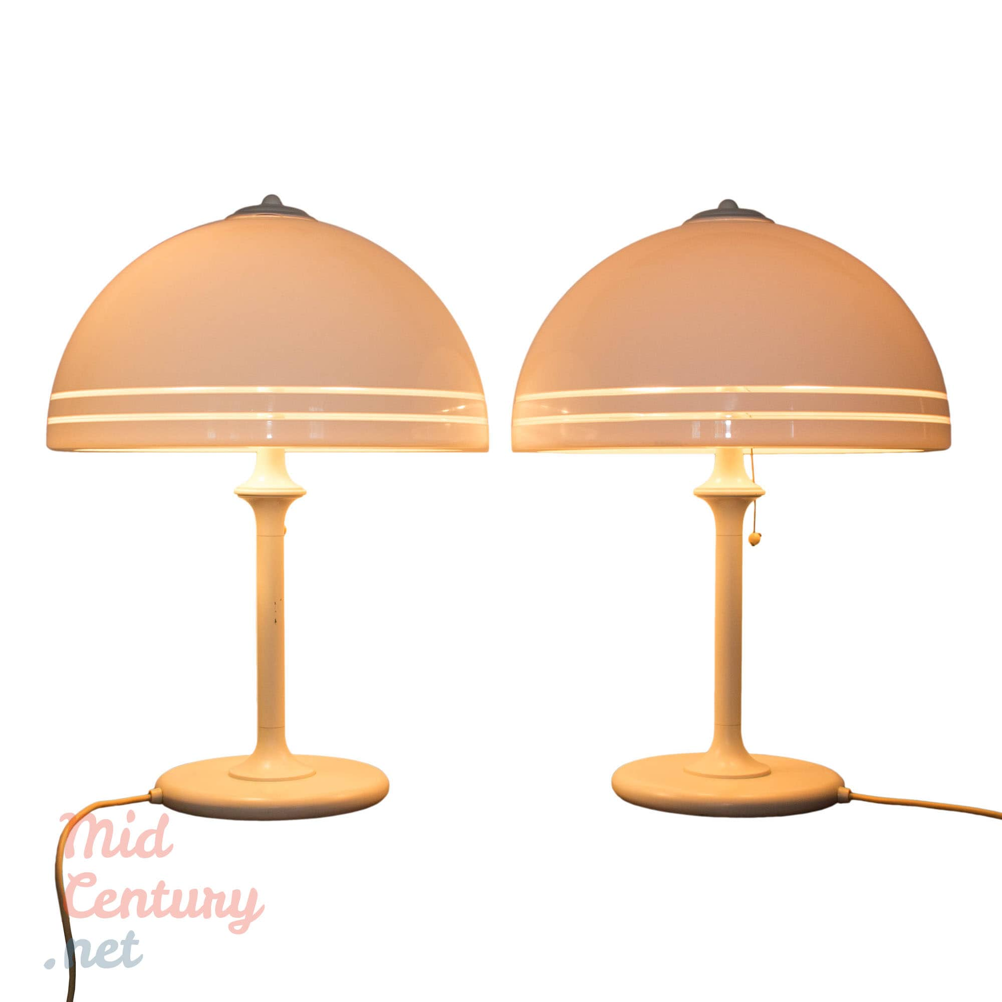 Spectacular pair of bedside table lamps by Wessel-Herford
