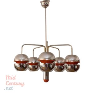Atomic Age ceiling lamp made in Belgium, in the 1960s
