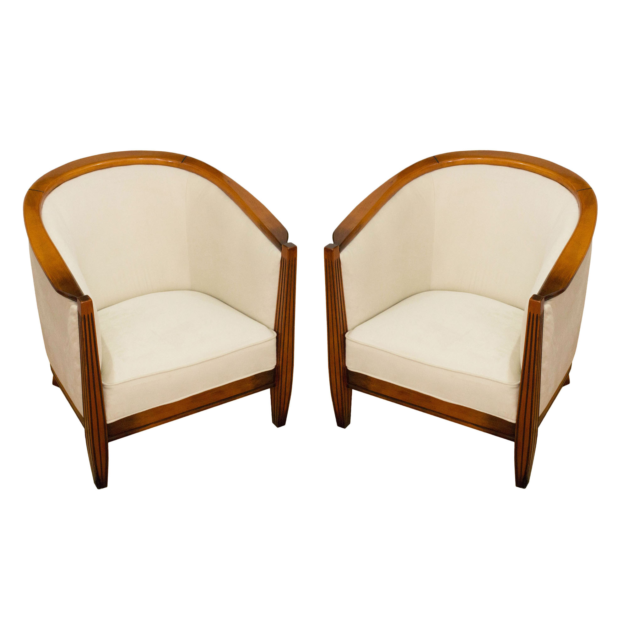 elegant pair of art deco armchairs made in france in the 1970s mid century. Black Bedroom Furniture Sets. Home Design Ideas