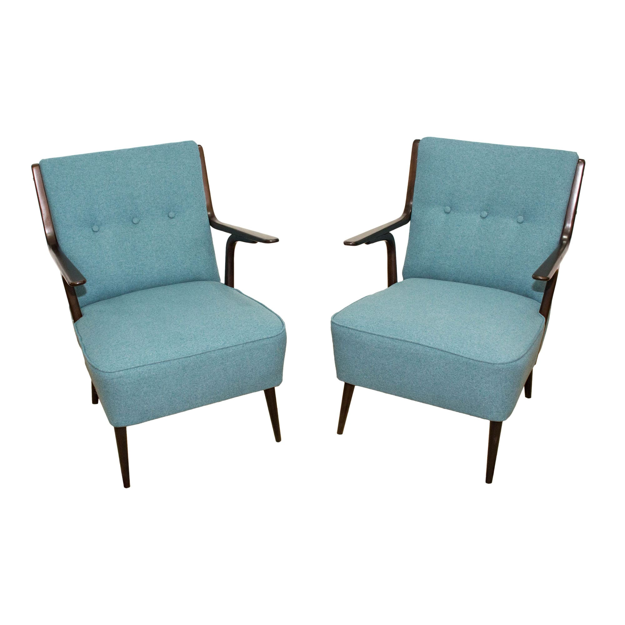 Beautiful pair of Mid-Century armchairs made in Italy in ...