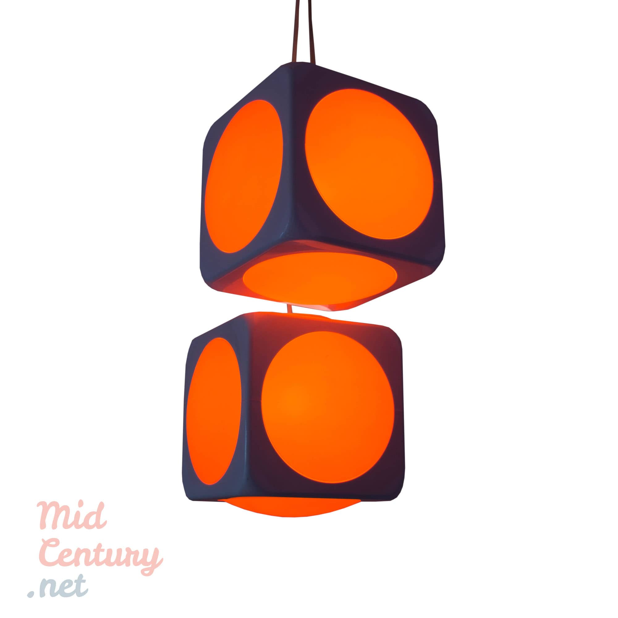 Set of two Atomic Age pandant lights