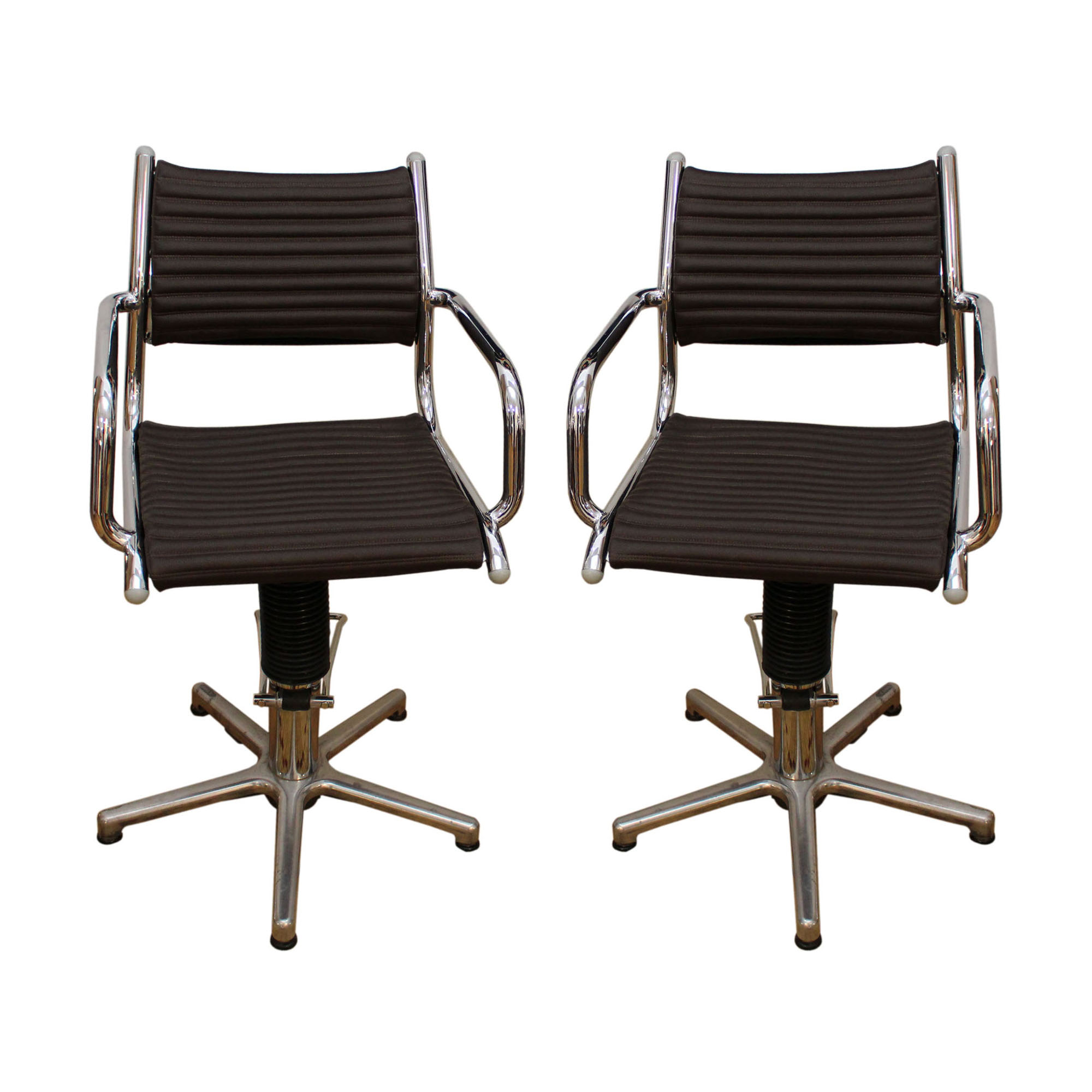 two swivel rotating chairs made in germany by olymp in the 1970s mid century. Black Bedroom Furniture Sets. Home Design Ideas