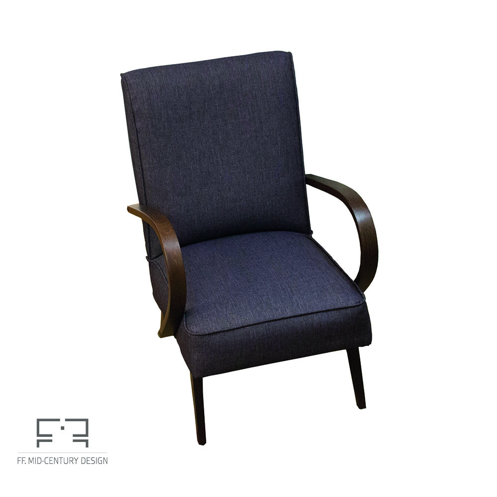 Art Deco armchair made by Jindrich Halabala for UP Zavody, 1950s