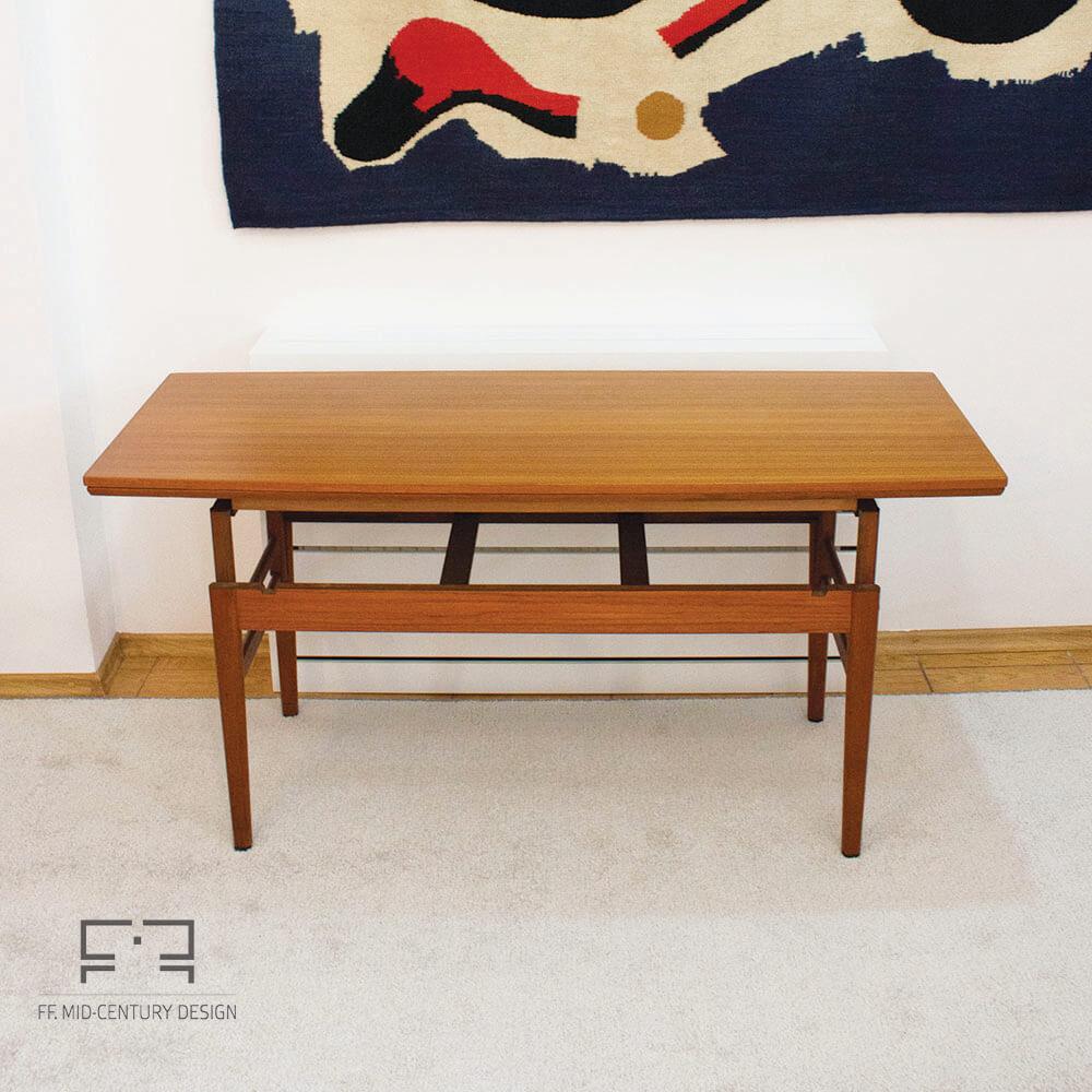 Teak Extendable Coffee Table: Danish Extendable Elevator Coffee/dining Table In Teak