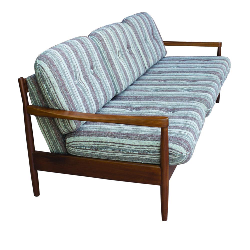 Incredible Elegant Danish Extendable 3 Seats Sofa In Teak 1970S Inzonedesignstudio Interior Chair Design Inzonedesignstudiocom